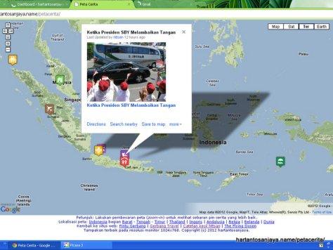 Memetakan Blog pada Peta Dunia di Peta Cerita