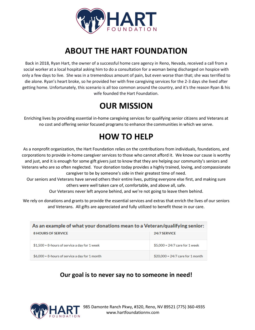 Hart Foundation 1-Sheet