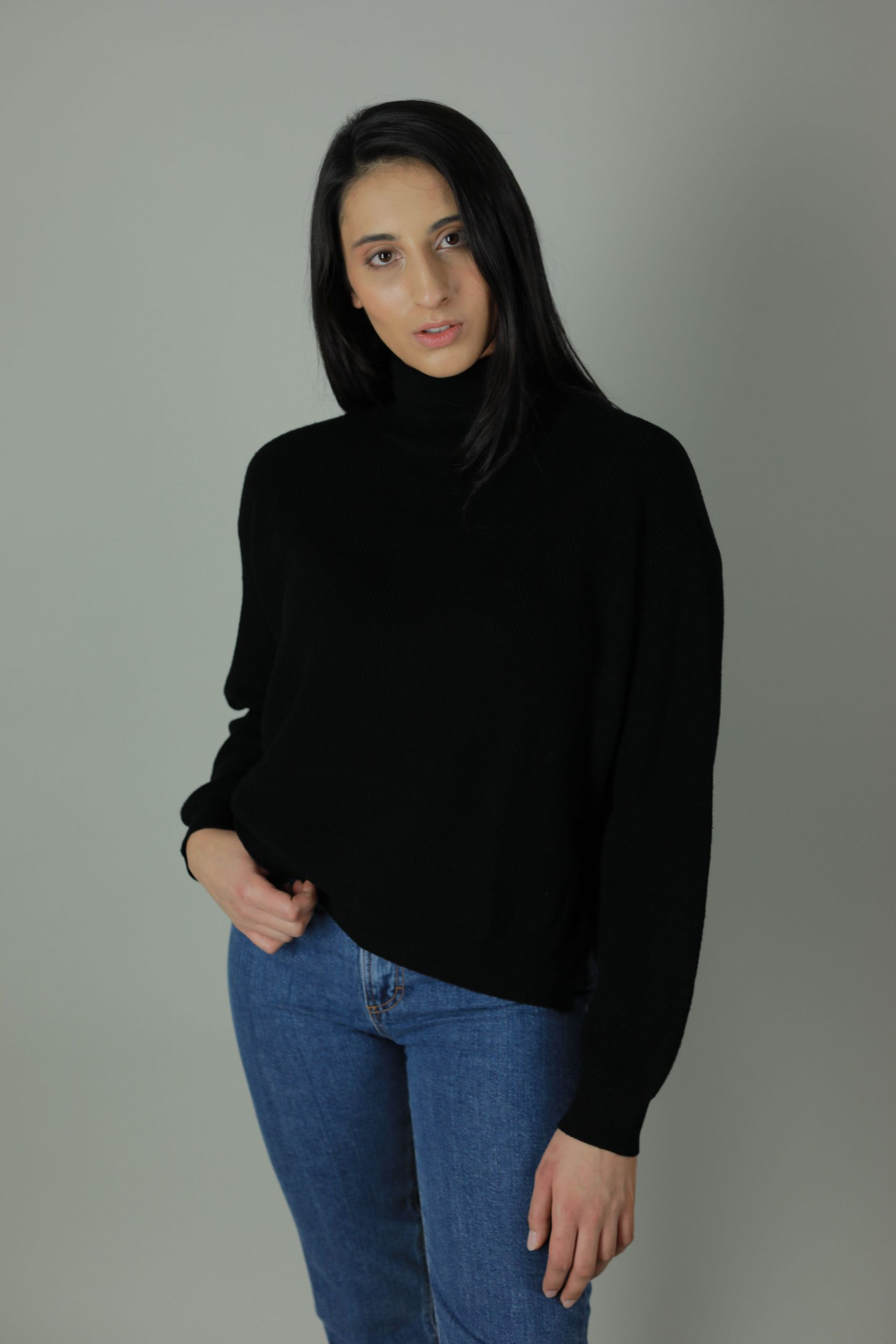 The 100% Cashmere Dana turtle-neck sweater is another striking addition to any year round wardrobe. Styled and shaped with you in mind, roomy yet cosy, this sweater is built for layering, .