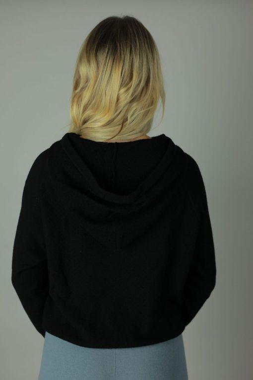 The 100% cashmere hoodies are the luxurious feel you need against your skin. Designed with comfort in mind our cashmere Hoodies are rich in room, comfort, quality and colour. compliments any outfit, both light and roomy it will cool you in the summer months and leave you feeling cozy in the winter. Back view.