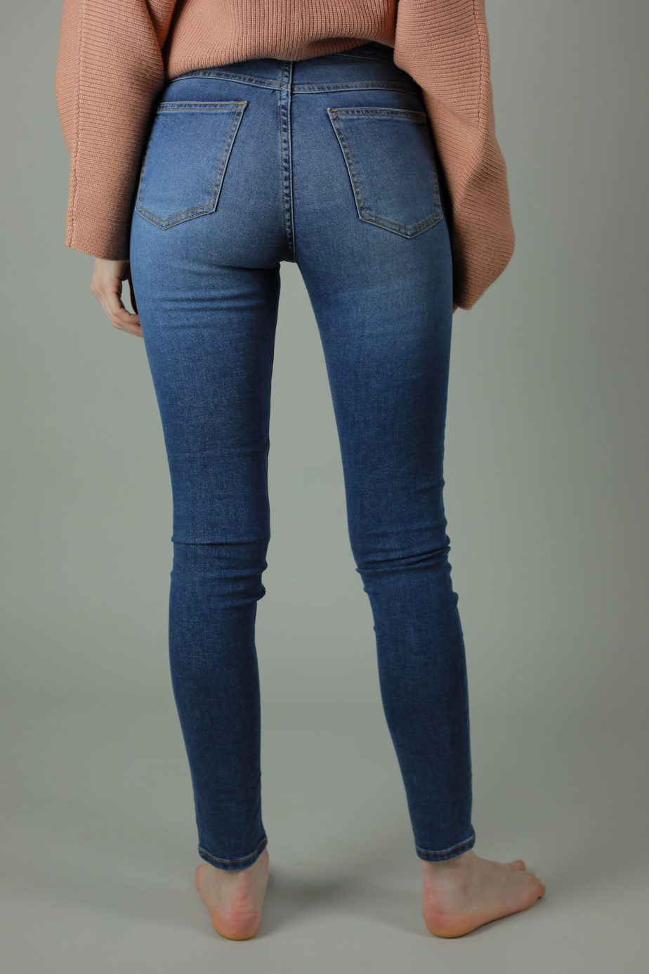 Our High waist Kaila collection are 98% cotton, 2% Lycra. The Kaila New York jean is for the those who are looking for comfort, timeless style and a high quality jean so you'll never have to compromise. Front view.