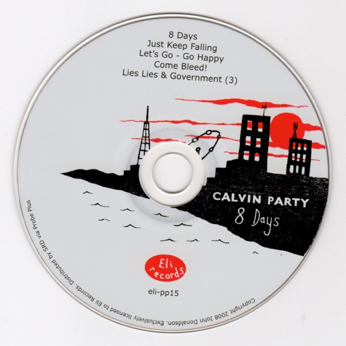 Calvin Party 8 Days CD Album from Eli Records 1