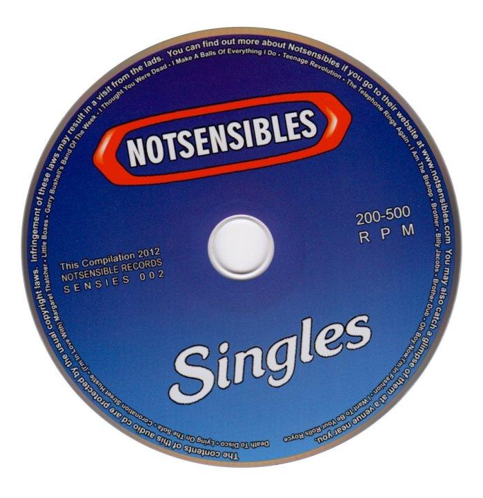 NOTSENSIBLES - Singles CD - From Eli Records