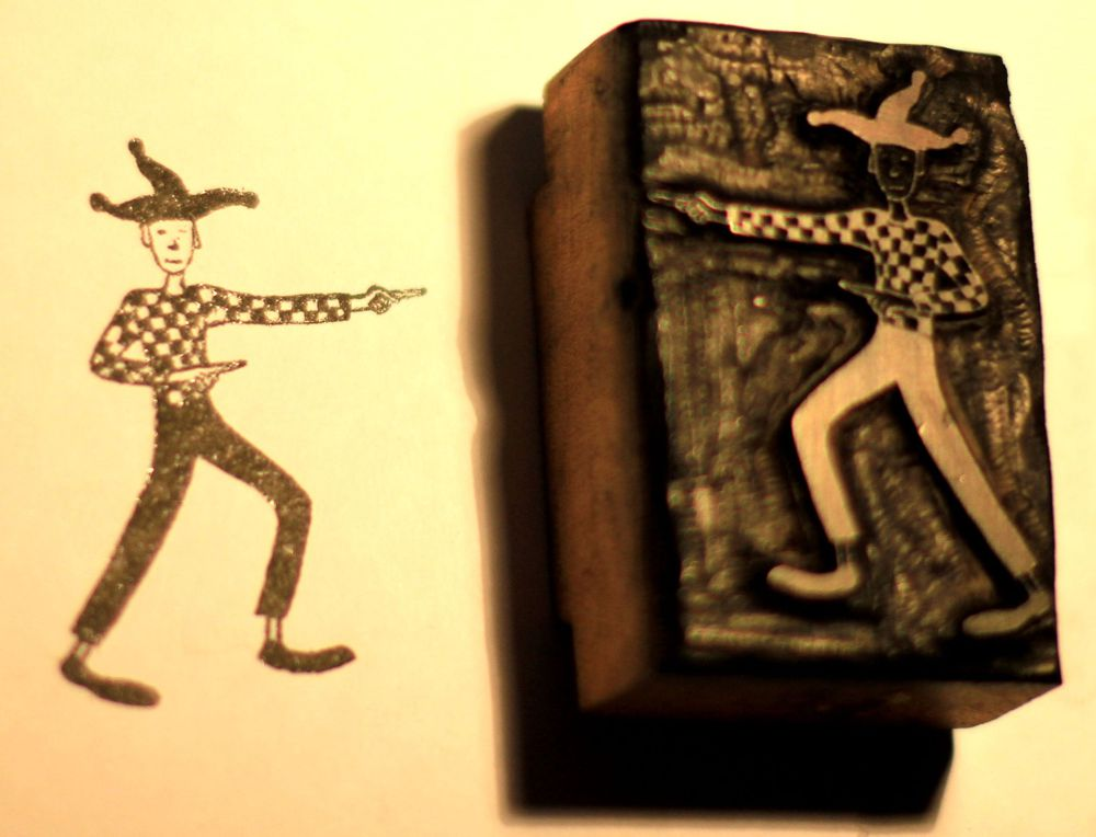Jester woodblock