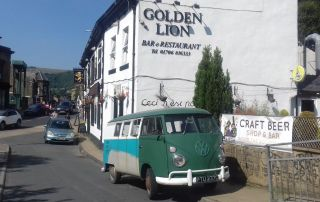 Van outside Golden Lion