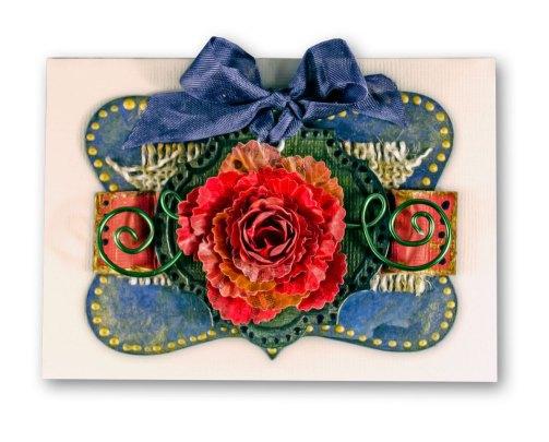 Close Up of Encaustic Sample Card designed for the JoAnn's Endcap Display