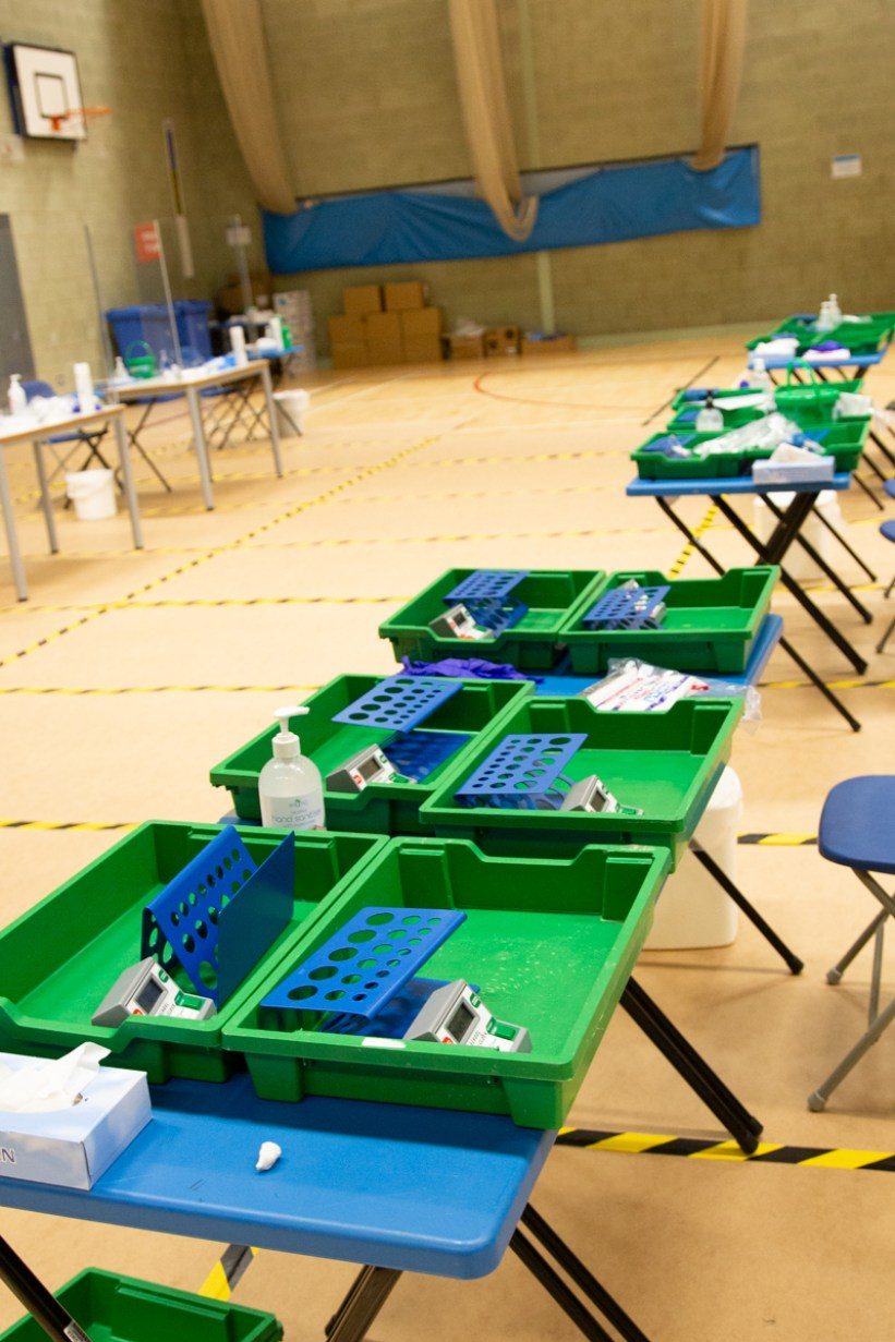 Mass Testing setup with Army-4