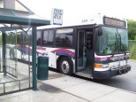 """2407 at South Shore Park and Ride, on the 47LX. LX meaning """"Limited Express"""". Limited Express routes are like Express routes, but with a few more stops than a traditional Express route. Some transit agencies call them """"Limited Stop"""" routes. Photo Credit: Shawn B."""