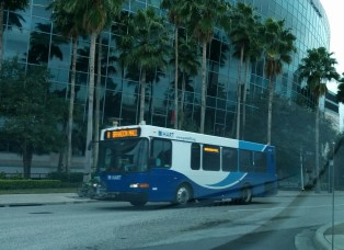 #2218 rolls by the Tampa Bay Times Forum. Photo Credit: HARTride 2012. January, 2014.