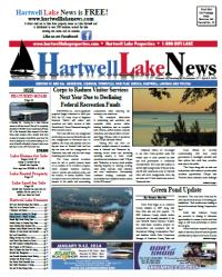 Hartwell Lake News Winter 2014