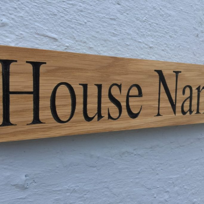 Wooden House Signs / Plaques