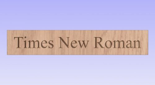 Showing what times new roman font looks like