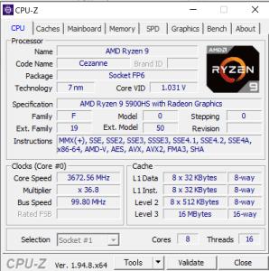 ASUS,ROG Flow X13 GV301QH,GV301QH-R9G1650S32G,レビュー,CPU性能,Ryzen 9 5900HS,