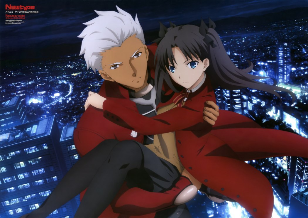 Archer and Rin Are Enchanting in the Latest Fate Stay Night 2015 Visual haruhichan.com fate stay night unlimited blade works season 2 visual