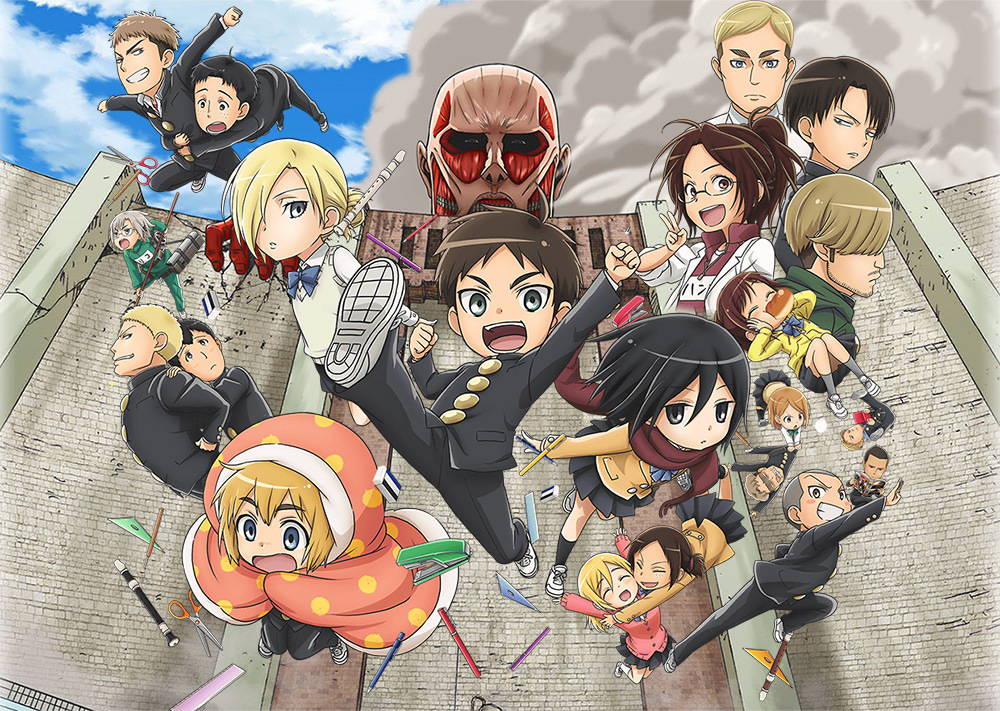 Attack on Titan Junior High anime visual