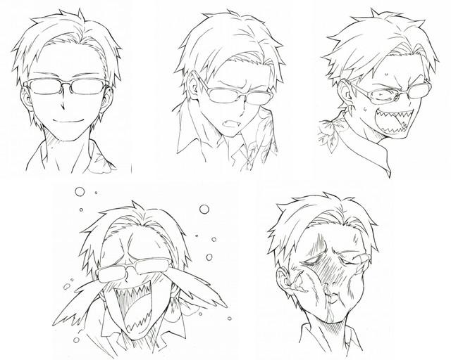Dagashi Kashi anime character design Tou Endou 2