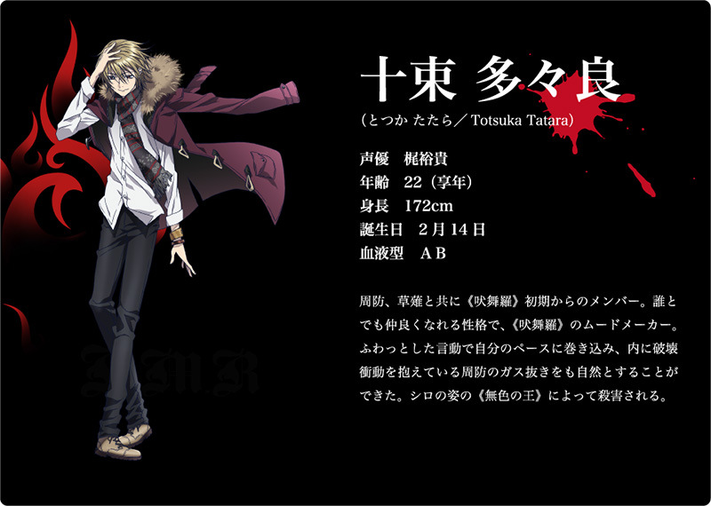 K 2nd Season Visuals and Additional Cast Revealed Main Cast Character Design tatara totsuka