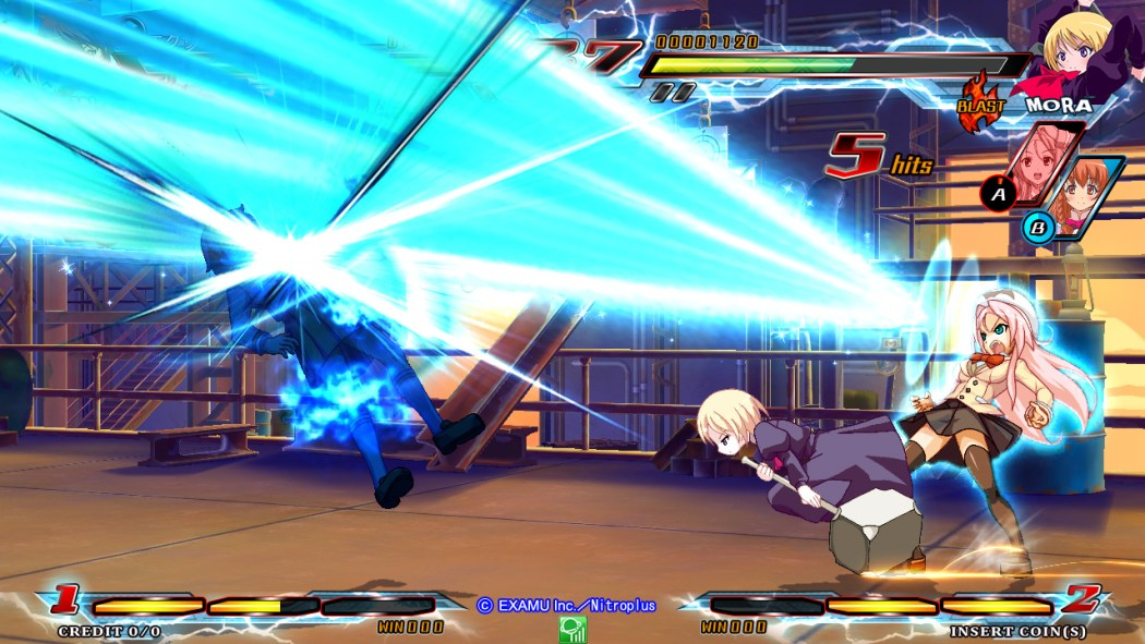 Nitroplus Blasters Heroines Infinite Duel Gameplay haruhichan.com Visual Novel Fighter game screenshot 7
