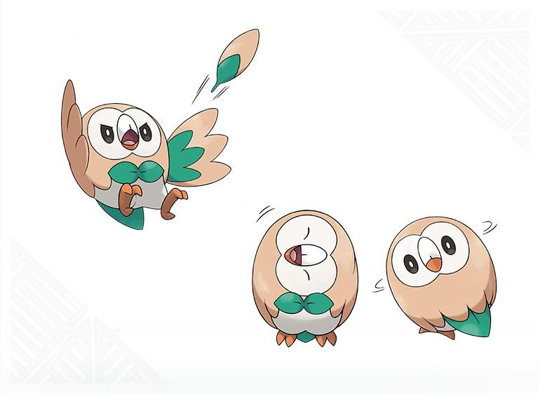 Pokemon-Sun-Moon-Starter-Rowlet-Move