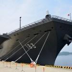 初の米艦防護任務・「いずも」出港
