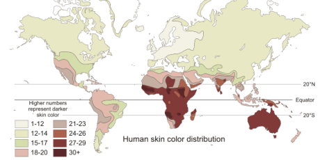 racial gradient map