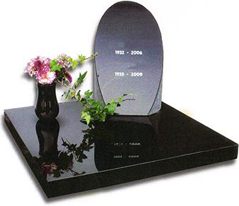 Urnen monument geheel Zwart graniet U026