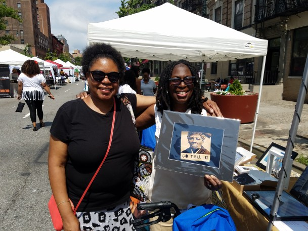 First customer of the day purchased a print of a Harriet Tubman sticker.
