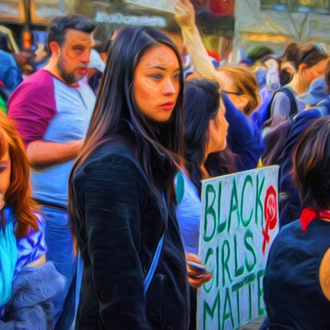 Union Square NYC Protest for Baltimore April 29, 2015 Digital image. Post-process editing. Photo by LaShawnda Jones