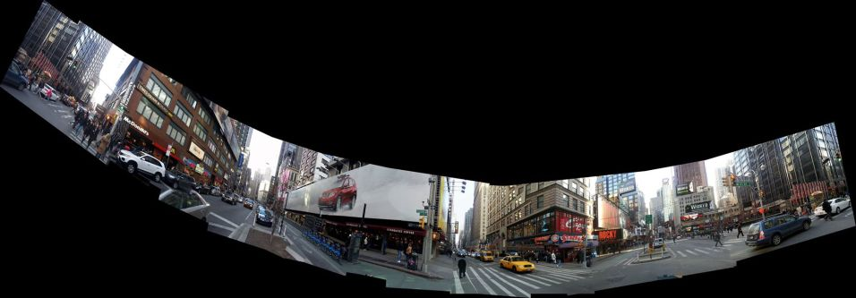 2014 Photo Challenge Week 9 Submission: Landscape - Panorama Times Square, NYC, corner of 51st & Broadway Stitch job in Microsoft ICE