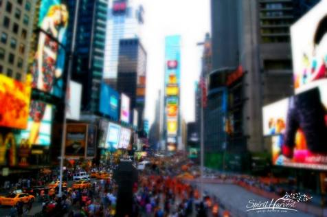 "Week 32 – Tilt Shift Sony A33, 18mm, ISO100, 1/100sec, f8 ""Sunday afternoon in Times Square"" Very fun challenge!"