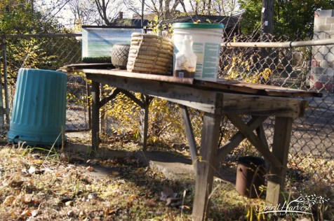 The gardening table. Photo: Spirit-Harvest.comGary, IN 2011