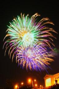 Fireworks at Franklin Parkway