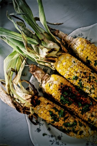 Grilled Corn with Salty Coconut Cream