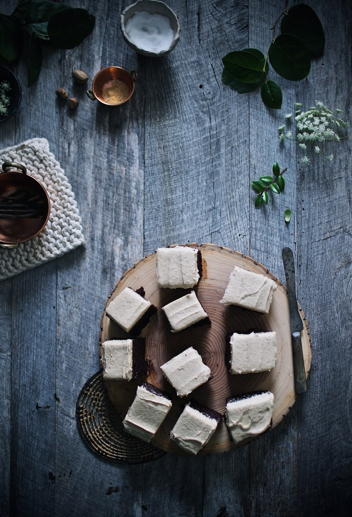 Chocolate Chai Snack Cakes with Pumpkin Buttercream