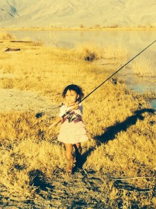 Zoe determined to catch fish