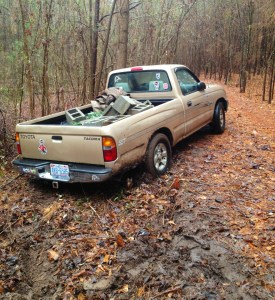 My truck stuck in the mud