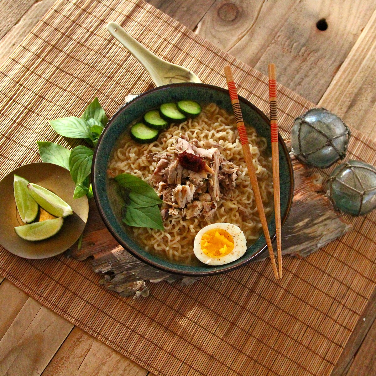 Roasted Tuna Head Ramen Noodle Soup