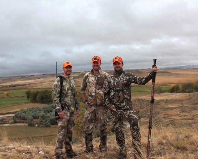 Our Crew in Wyoming: Justin, AJ, and Jake