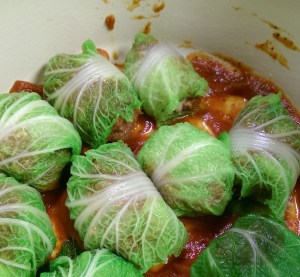 Venison Stuffed Cabbage