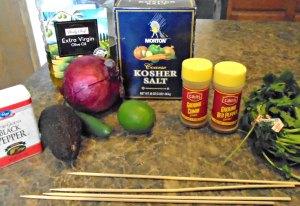 Venison Heart Taco Ingredients