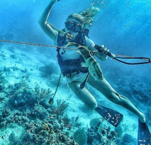 Spear Fishing in the Bahamas