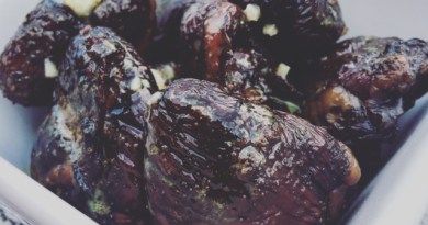 Smoked Goose Hearts with Lemon Dressing