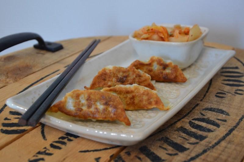 Snow Goose & Kimchi Gun Mandu (Pan Fried Korean Dumplings)