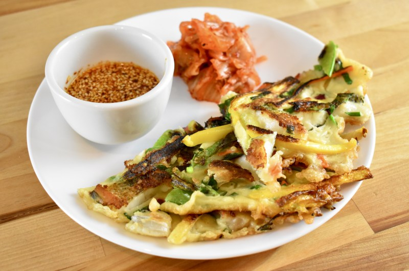 Bass and Veggie Jeon (Korean Savory Pancakes)