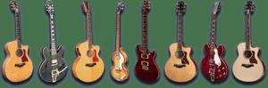 Row of guitars