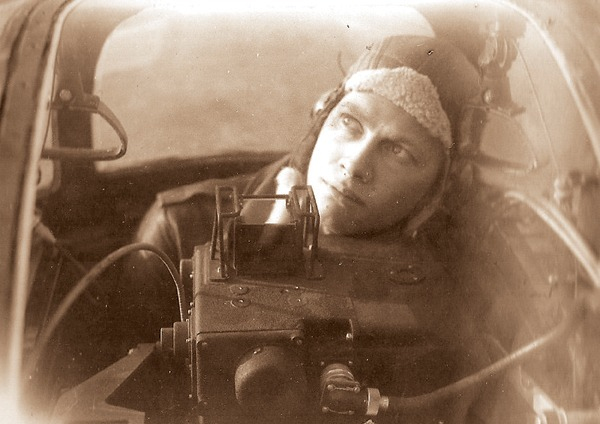"""This is one of about 1,000 photos in """"Our Nation Called: Harvey County Answered"""" book published by Free Press Books. It was released on Veterans Day. Here, Wayne H. Akers is a B-17 top turret gunner in January 1944."""