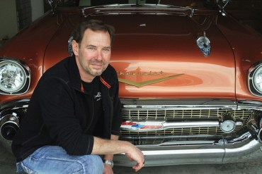 Newton resident and businessman Jim Tongish did most of the restorations on his 1957 Chevy Bel Air two-door hardtop. This car will be at the 11th Annual Newton Downtown Car Show on?May 2. Wendy Nugent / The Edge