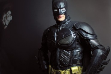 Jon Robinson dresses as Batman, as well as other characters, when he attends comic conventions. Photo by Wendy Nugent