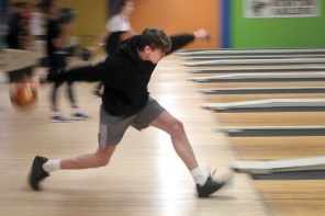 Strike!: NHS seniors enjoy bowling for the school