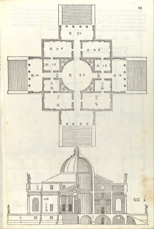 Villa Almerico (Villa Rotunda), from I quattro libri dell'architettura di Andrea Palladio (Book 2, page 19), Christoph Krieger, The Metropolitan Museum, New York